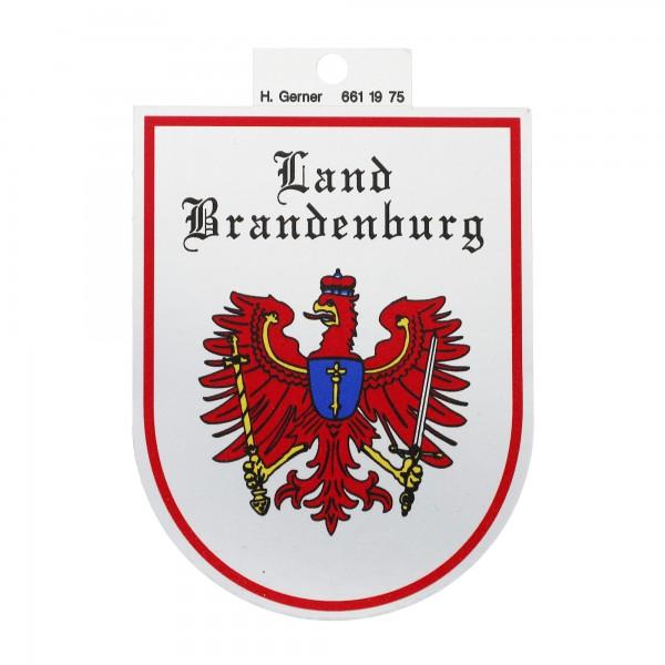 Aufkleber Land Brandenburg - Hintergrund Silber